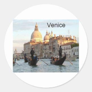 Gran Canal de Italia Venecia (St.K) Pegatina Redonda