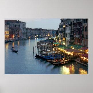 Gran Canal de la tarde de Venecia Posters