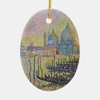 Gran Canal de Paul Signac- (Venise) Adorno Ovalado De Cerámica