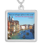 Gran Canal de Venecia con cita del amor Grimpolas Personalizadas