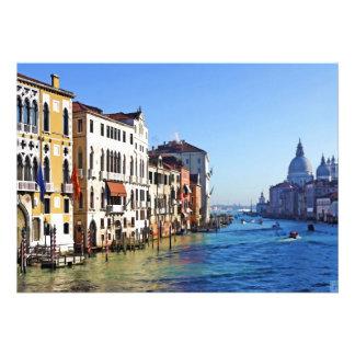 Gran Canal de Venecia con cita del amor Invitacion Personalizada