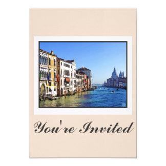 """Gran Canal de Venecia con cita del amor Invitación 5"""" X 7"""""""