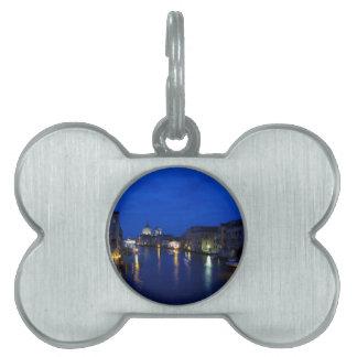 Gran Canal de Venecia por noche Placas De Mascota