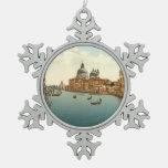 Gran Canal I, Venecia, Italia Adorno De Peltre En Forma De Copo De Nieve