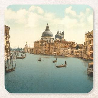 Gran Canal I, Venecia, Italia Posavasos Desechable Cuadrado