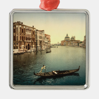 Gran Canal II, Venecia, Italia Adorno Navideño Cuadrado De Metal