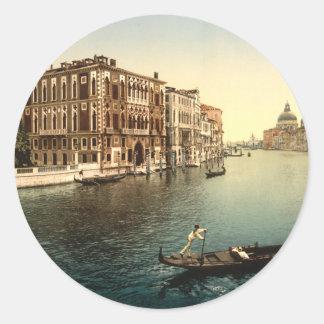 Gran Canal II, Venecia, Italia Etiqueta Redonda