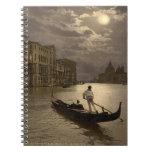Gran Canal por el claro de luna II, Venecia, Itali Libro De Apuntes Con Espiral