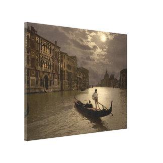 Gran Canal por el claro de luna II, Venecia, Itali Impresiones En Lienzo Estiradas