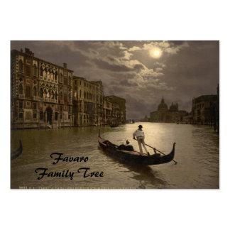 Gran Canal por el claro de luna II, Venecia, Itali Plantillas De Tarjetas De Visita