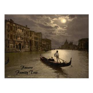 Gran Canal por el claro de luna II, Venecia, Itali Tarjeta Postal