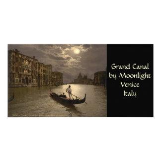 Gran Canal por el claro de luna II, Venecia, Itali Tarjetas Personales Con Fotos