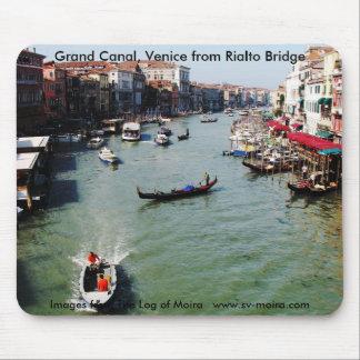 Gran Canal, Venecia del puente de Rialto Alfombrilla De Raton
