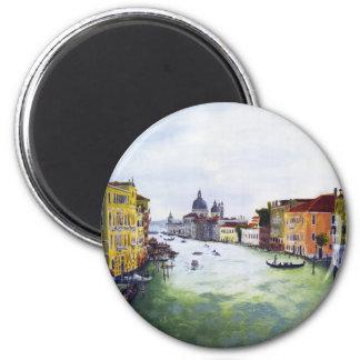 Gran Canal, Venecia, Italia Imán Redondo 5 Cm