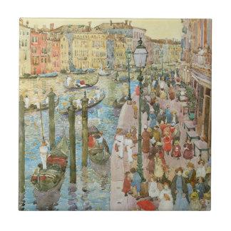 Gran Canal, Venecia por Prendergast, arte del Azulejo