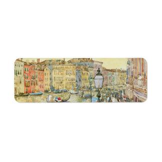 Gran Canal, Venecia por Prendergast, arte del Etiqueta De Remite