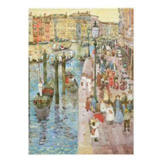 Gran Canal Venecia por Prendergast arte del Invitaciones Personalizada