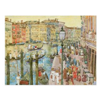 Gran Canal, Venecia por Prendergast, arte del Postales