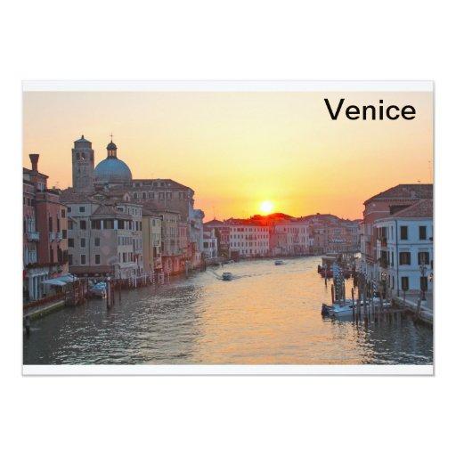 """Gran Canal Venecia - salida del sol Invitación 5"""" X 7"""""""