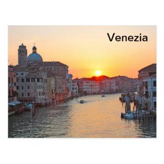 Gran Canal Venecia - salida del sol Postales