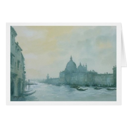Gran Canal Venecia Tarjeta De Felicitación