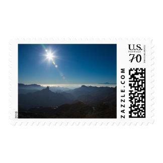 Gran Canaria, view towards Teide on Tenerife stamp