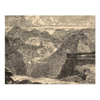 Gran Cañón, Amphitheatre, motas esculpidas Postal