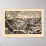 Gran Cañón, Amphitheatre, motas esculpidas Póster