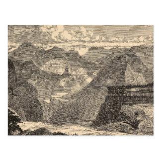 Gran Cañón, Amphitheatre, motas esculpidas Tarjetas Postales