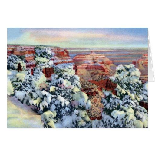 Gran Cañón Arizona en invierno Tarjetas