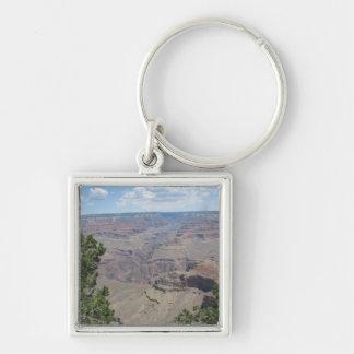Gran Cañón, Arizona Llavero Cuadrado Plateado