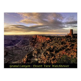 Gran Cañón - atalaya de la opinión del desierto Tarjetas Postales