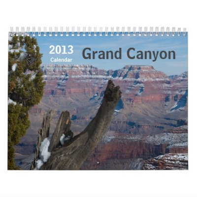 Gran Cañón de 2014 calendarios