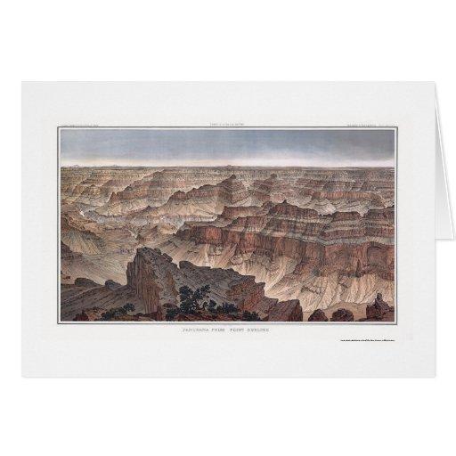 Gran Cañón de la pinta. Sublime por Dutton 1882B Tarjeton