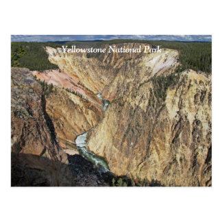 Gran Cañón de la postal escénica de Yellowstone