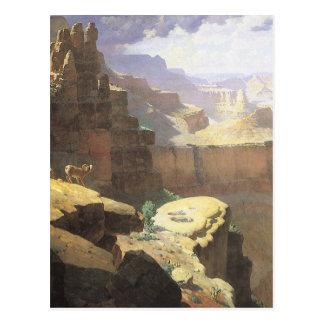 Gran Cañón de Leigh, arte del oeste americano del Postal