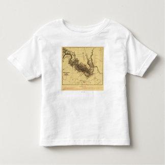 Gran Cañón del mapa de Colorado RiverPanoramic T-shirts