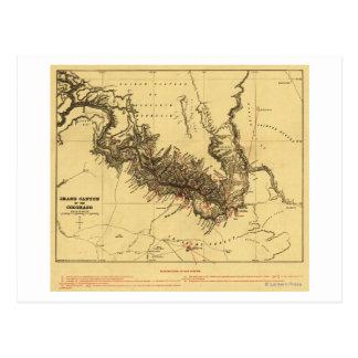 Gran Cañón del mapa de Colorado RiverPanoramic Postal