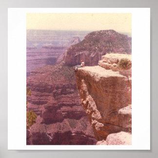 Gran Cañón del norte 1977 del borde Póster