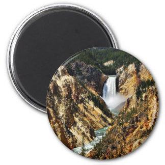 Gran Cañón del parque de Yellowstone que mira Towa Imán Redondo 5 Cm