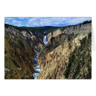 Gran Cañón del río Yellowstone Felicitación