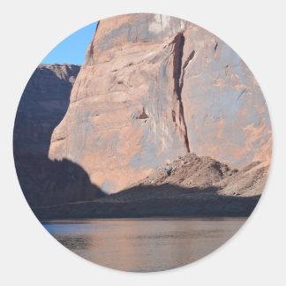 Gran Cañón del sur el río Colorado del borde Pegatina Redonda