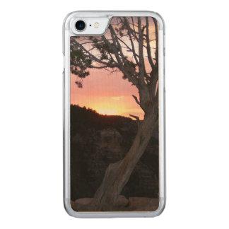 Gran Cañón en la puesta del sol con las siluetas Funda Para iPhone 7