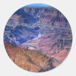 Gran Cañón Etiquetas Redondas