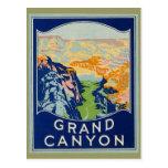 Gran Cañón - viaje del vintage Postal