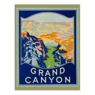 Gran Cañón - viaje del vintage Postales