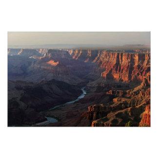 Gran Cañón y el río Colorado en Arizona Perfect Poster