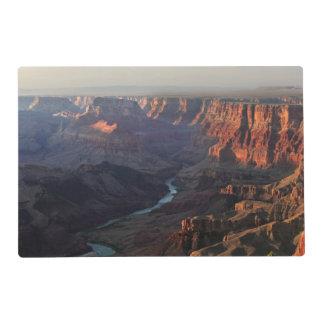 Gran Cañón y el río Colorado en Arizona Tapete Individual