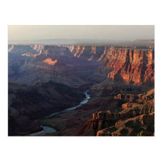Gran Cañón y el río Colorado en Arizona Tarjetas Postales
