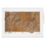 Gran Cañón y mapa 1962 de la vecindad Felicitación